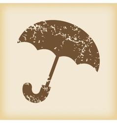 Grungy umbrella icon vector