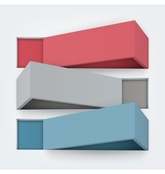 Abstract 3d boards with vector