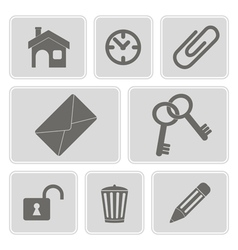Icons with symbols of work in the office vector