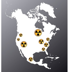North america nuclear vector