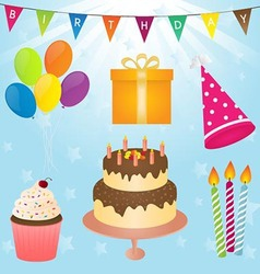 Birthday party element vector