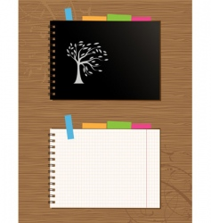 Notebook cover and page vector