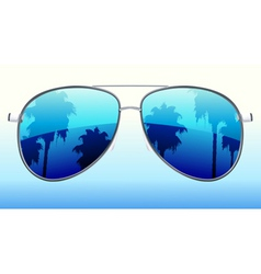 illustration of funky sunglasses with the r vector