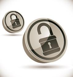 Lock 3d icon vector