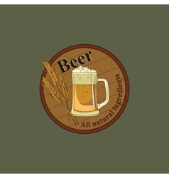 Colored beer emblem vector
