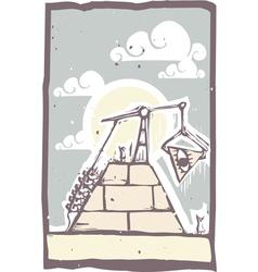 Masonic pyramid vector
