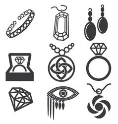 Jewelry mark set vector