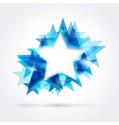 Blue star frame vector