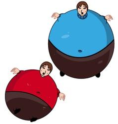 Fat kid vector