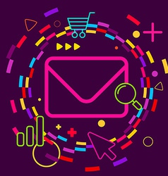 Envelope on abstract colorful geometric dark vector