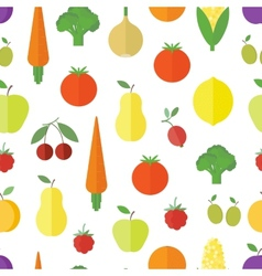 Seamless background with fruits and vegetables vector