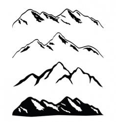 Mountain ranges vector