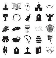 Christian icons collection vector
