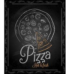 Chalkboard pizza vector