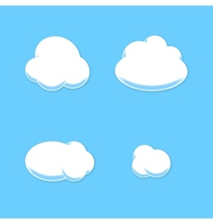 Comic cloud set cartoon style vector