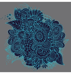 Ornate neon floral card design vector