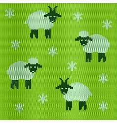 Knitted holiday seamless vector