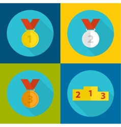 Set of medals vector