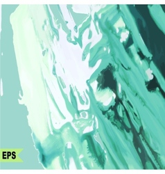 Abstract paint painting with green water vector
