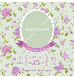 Baby arrival card - with photo frame vector