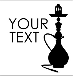 Hookah silhouette with sample text vector