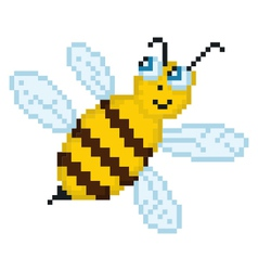 Pixel bee vector