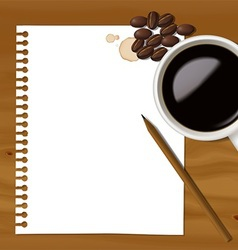 Coffee note vector