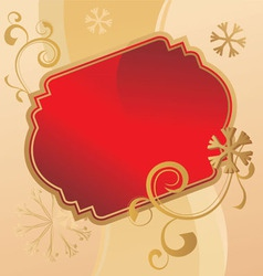 Christmas scroll vintage vector