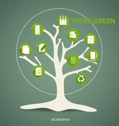 Ecology infographics design elements vector