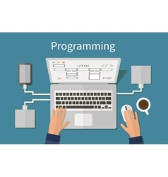 Programming and coding website deveopment web vector