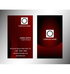 Dark red abstract background night sky with stars vector
