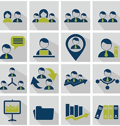Human resources icons vector