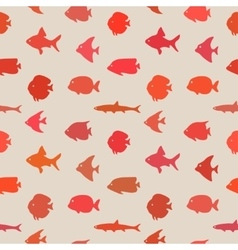 Simple plain style fish seamless pattern vector