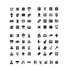 House system icons vector