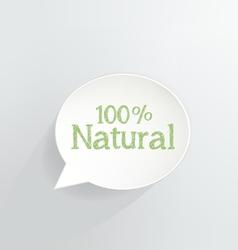 100 percent natural vector