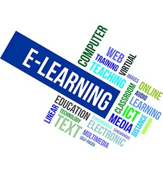 Word cloud e learning vector