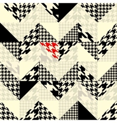 Chevron of triangles patchwork with classic vector