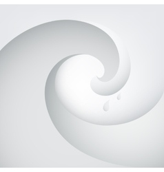 Abstract wave with water drops vector