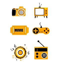 Media icons vector