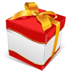White box with gold tape vector
