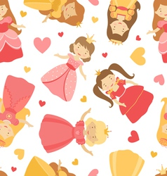Princess pattern vector