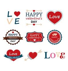 Set of happy valentine vector