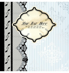 Silver background with lace vector