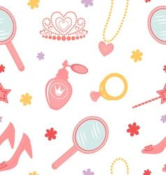 Princess seamless pattern vector