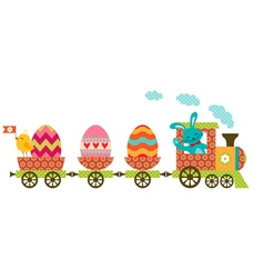Easter train vector
