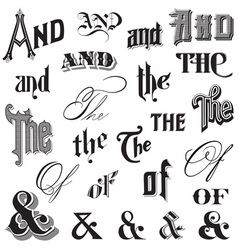 Calligraphic ands and thes vector