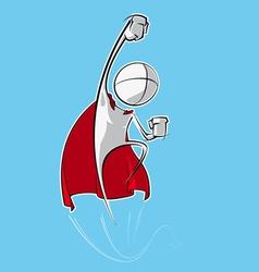 Simple people superhero vector