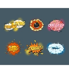 Comic blank text speech bubbles in pop art style vector