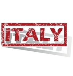 Italy outlined stamp vector