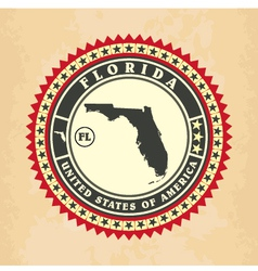 Vintage label-sticker cards of florida vector